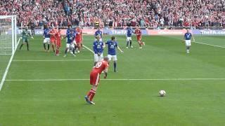 FA Cup Semi Final 2012 Andy Carroll's winning goal 2-1