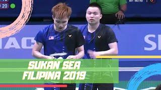 EMAS Badminton Beregu Lelaki | Sukan SEA 2019 | Astro Arena