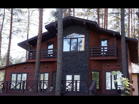 Снять дом с большим залом и беседкой на берегу озера на сутки. Видовая терраса, пирс, лодочки, Игора