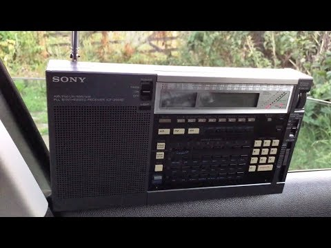 Sony ICF-2001D sensitivity on the whip: Radio Guinée 9650 kHz, Conakry, copied in Oxford UK