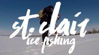 Ice Fishing Adventure on Lake St. Clair
