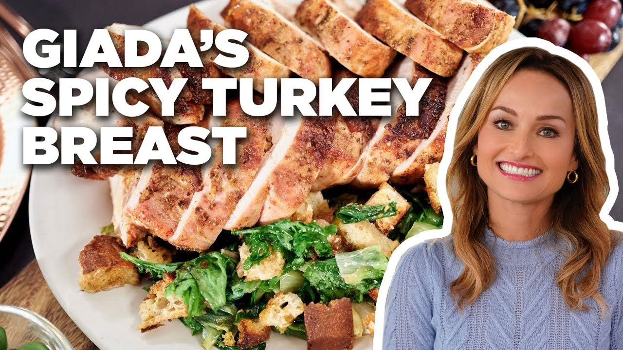 How To Make Giada S Spicy Turkey Breast Food Network Youtube