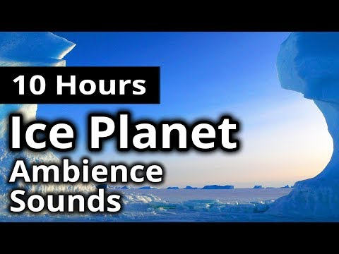 ICE PLANET Ambience - Strange Planet WIND STORM - RELAXING SCI-FI / MEDITATION