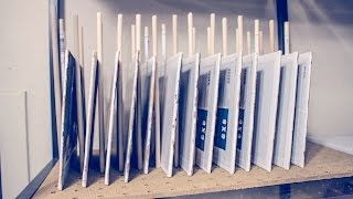 DIY Drying Rack for Paintings