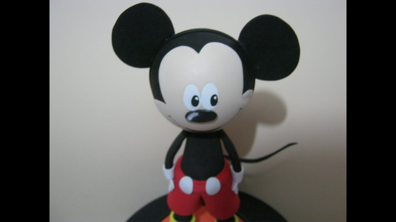 COMO HACER FOFUCHO MICKEY MOUSE EN FOAMY PART 1 DE 3 - YouTube
