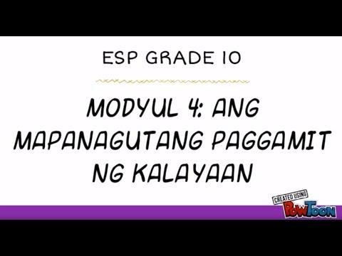 ESP GRADE 10 MODYUL 4
