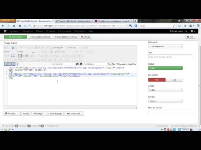 Joomla 3 - Ajouter et gérer ses medias avec JCE