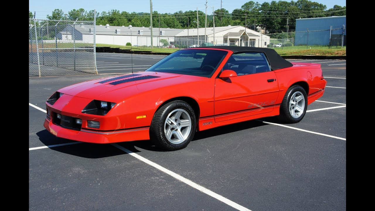 1990 chevrolet camaro iroc z convertible for sale youtube. Black Bedroom Furniture Sets. Home Design Ideas