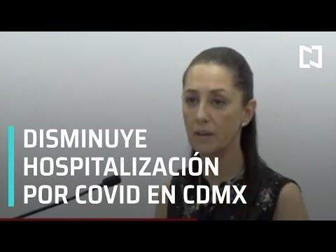 Hospitalización por coronavirus en CDMX sigue bajando lentamente: Sheinbaum - Las Noticias