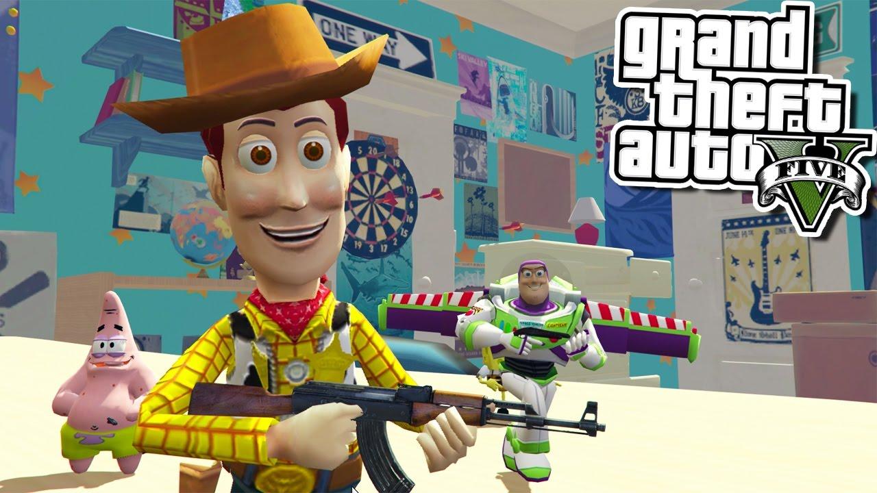 Gta 5 toy story saving spongebob w yoda power rangers for Toy story 5 portada