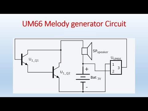 How to Make UM66 Melody Generator Circuit
