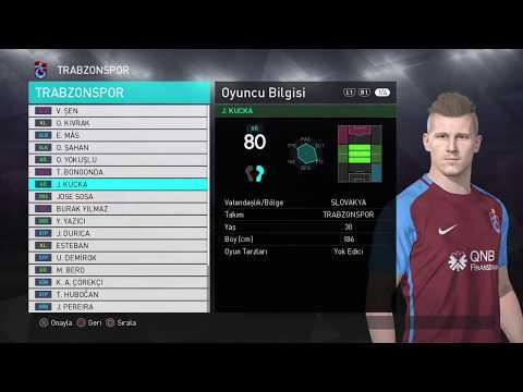 PS4 PES 2018 Trabzonspor Yaması