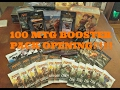 Huge 100 Magic the Gathering Booster Pack Opening!!!!!!!!