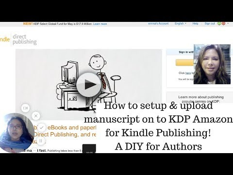 How to set up and upload manuscript on KDP Amazon for Kindle for