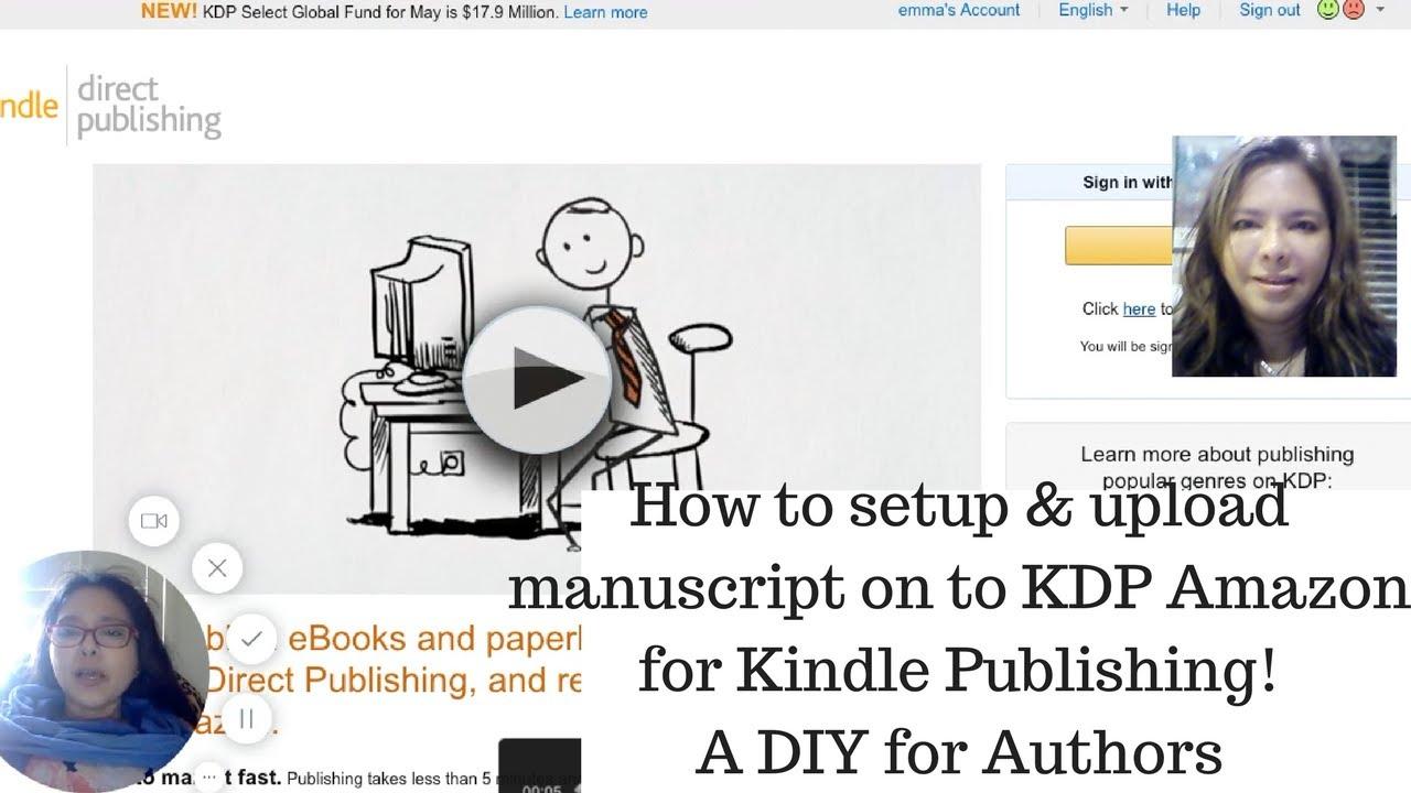 How to set up and upload manuscript on KDP Amazon for Kindle for authors