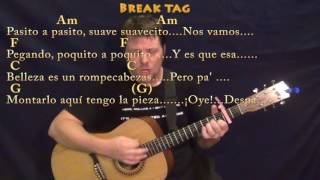 Despacito (Luis Fonsi/Justin Bieber) Guitar Cover Lesson with Chords/Lyrics - Capo 2nd