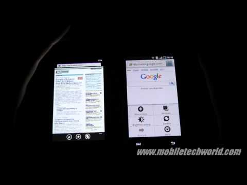 Windows Phone 7 vs Android Browser Performance comparison on Samsung Omnia 7 vs Galaxy S