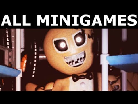 JOLLY 3: Chapter 1 - All Mini Games (No Commentary) (FNAF Horror Game 2017)