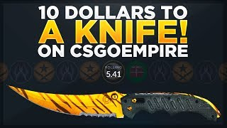10$ TO A KNIFE ON CSGOEMPIRE! (CSGOEMPIRE CODE) Video