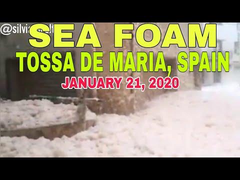 SEA FOAM IN TOSSA DE MAR SPAIN | JANUARY 21, 2020