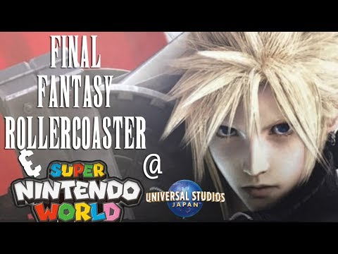 Final Fantasy Rollercoaster and Super Nintendo World Construction | USJ