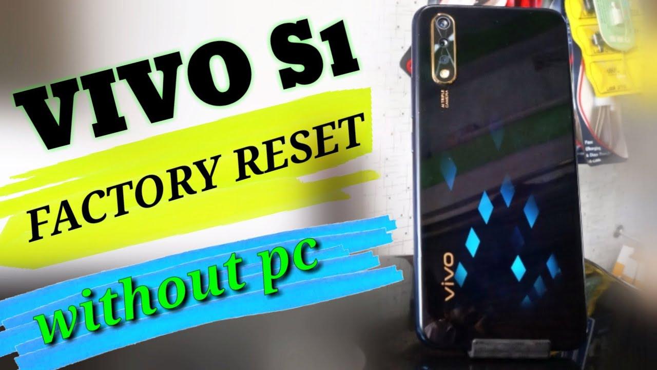 Vivo 1907 s1/ vivo s1 hard reset/vivo s1 factory reset, wipe data without pc