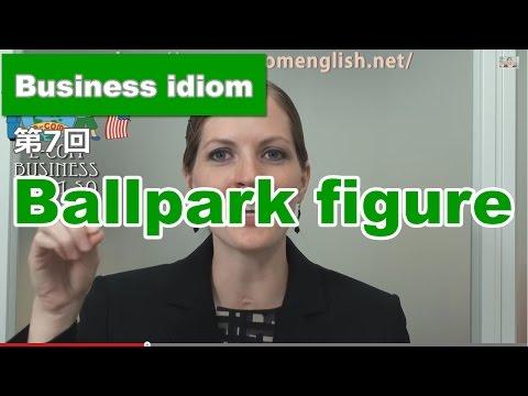 ビジネス英語表現Idiom7/50: Ballpark figure