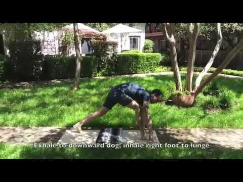 yoga full sun salutation  youtube