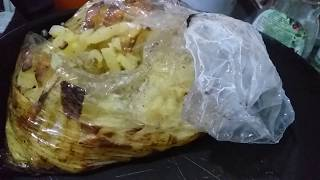Картошка запеченная в пакете рукаве