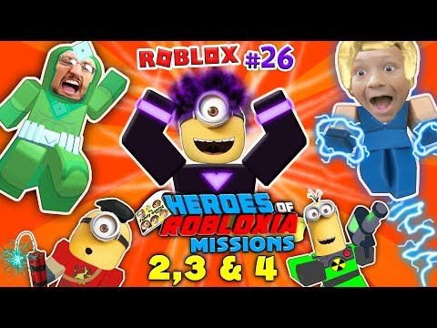 Thumbnail: DABBING MINION & ROBLOX Heroes of Robloxia MISSIONS 2, 3 & 4! FGTEEV #28: 2-Vids-in-1 (DARK MATTER)