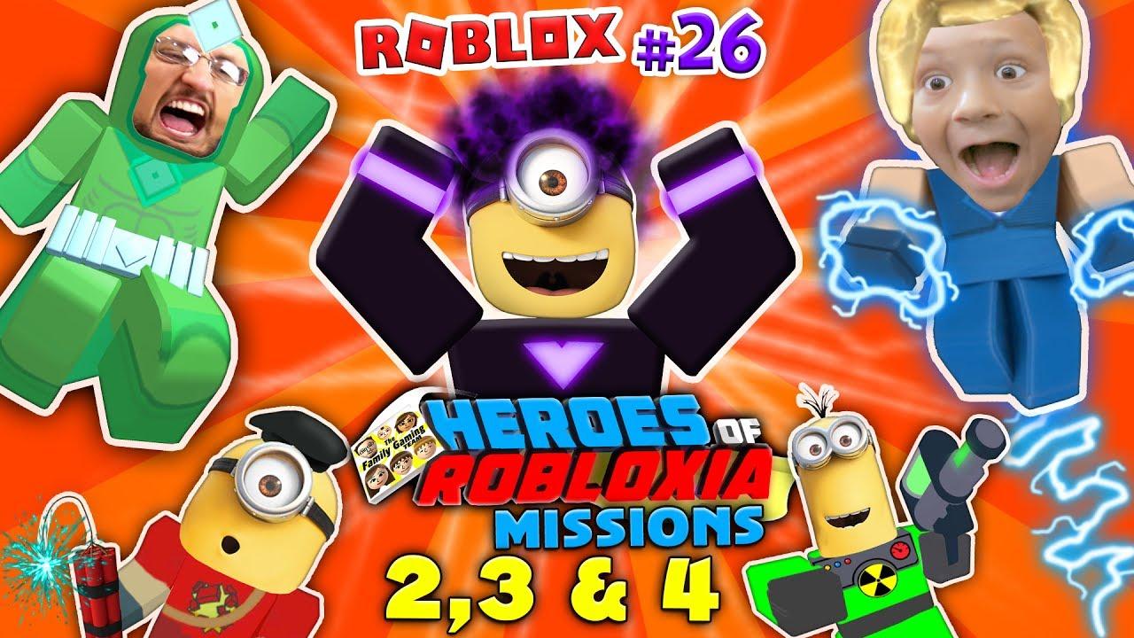 Dabbing Minion Roblox Heroes Of Robloxia Missions 2 3 4 Fgteev 28 2 Vids In 1 Dark Matter - fgteev roblox tycoon superhero
