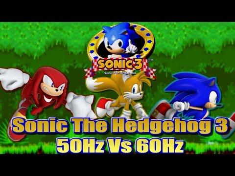 Sonic 3 - 50Hz vs 60Hz (PAL vs NTSC) - An informative comparison