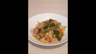 Тушеный картофель со свининой/ тушеная картошка/ вкусный тушеный картофель с мясом