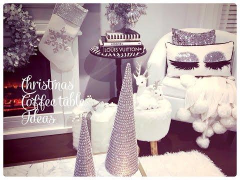Glam Christmas Home Decor Christmas Coffee Table Ideas
