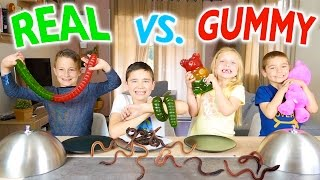 GUMMY FOOD VS REAL FOOD CHALLENGE - Bonbons ou Vraie Nourriture ? - Ft. l'Atelier de Roxane
