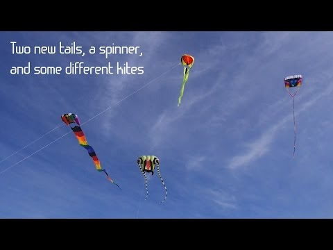 Two new tails, a spinner, and some different kites
