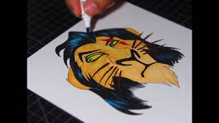 Drawing Scar from the Lion King