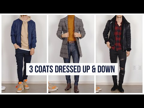 How You Can Dress Up & Down Your Outerwear | Men's Fall Fashion | Overcoats & Jackets