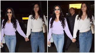 Janhvi and Khushi Kapoor walking hand-in-hand will give you major sibling goals