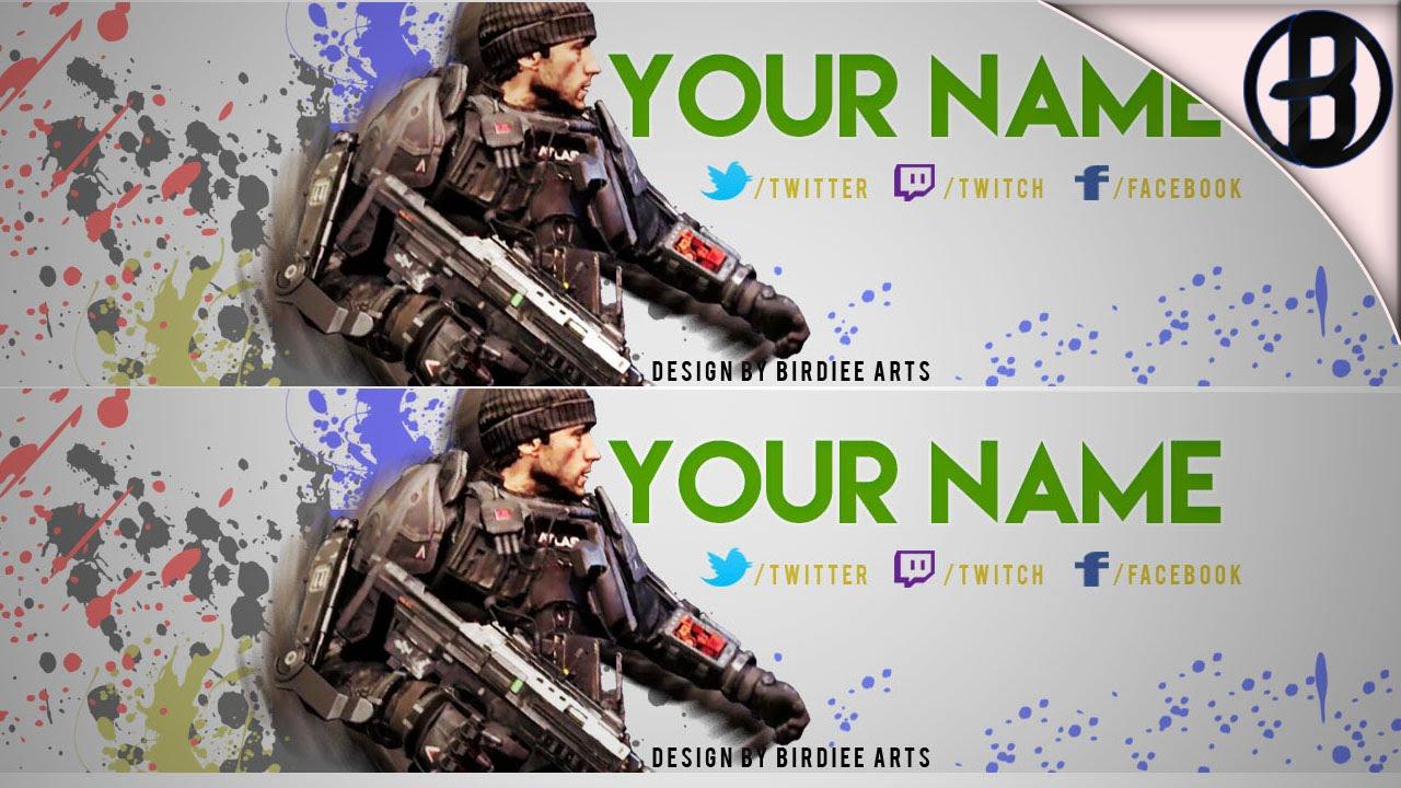 Free Call Of Duty Advanced Warfare YouTube Banner Template