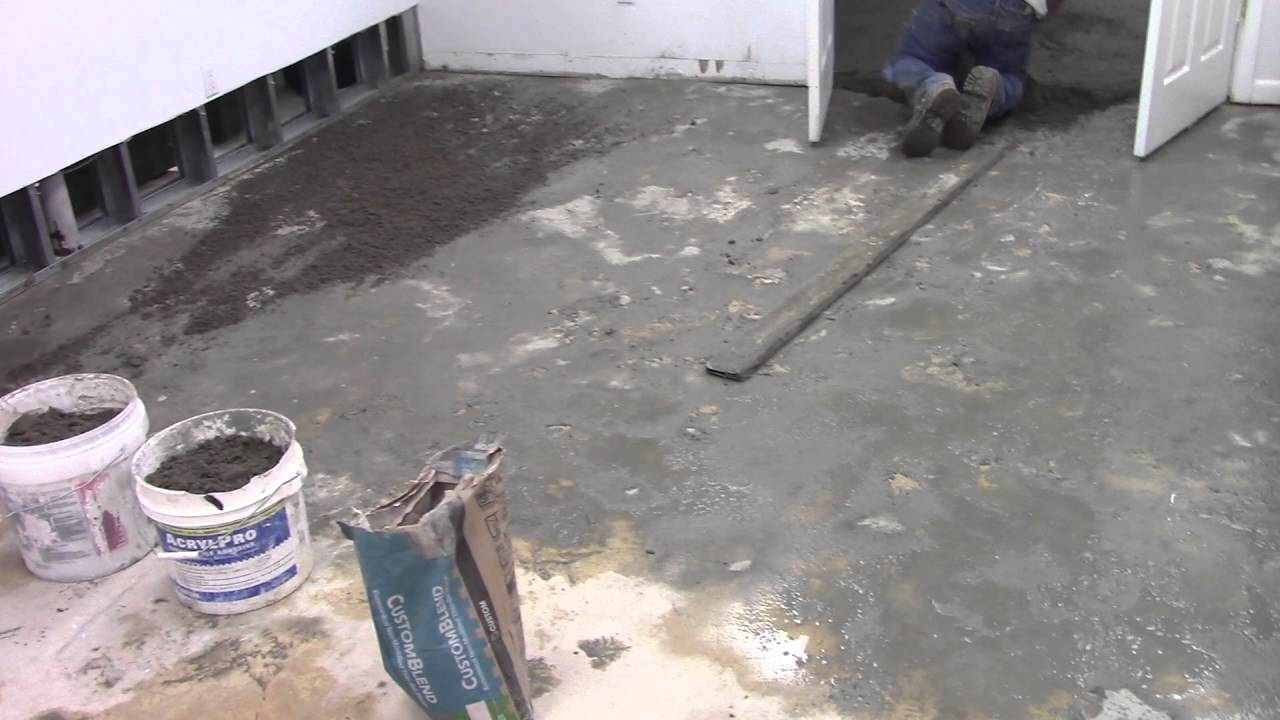 Leveling Basement Floor For New Tiles Youtube