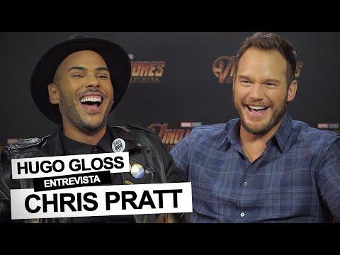 Hugo Gloss entrevista e presenteia Chris Pratt em São Paulo