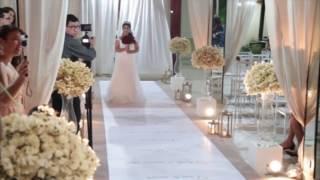 Entrada da noiva - Casamento Edivania e Israel