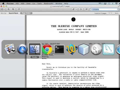 Converting Scanned PDF to Searchable PDF on Mac OS X (OCR) - YouTube