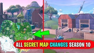 ALL *NEW* SECRET MAP CHANGES SEASON 10 FORTNITE! (Dusty, Factories & More!)
