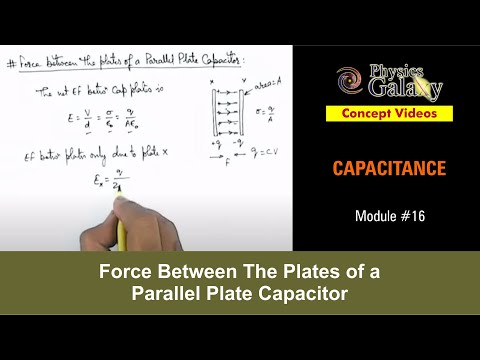 16. Physics | Capacitance | Force Between The Plates of a Parallel Plate Capacitor | Ashish Arora