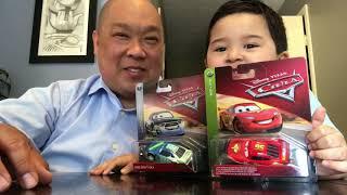 Matt's playtime.  New Cars 2 and Cars.  Minions blind bag and incredibles 2 blind box, Pixar mashim