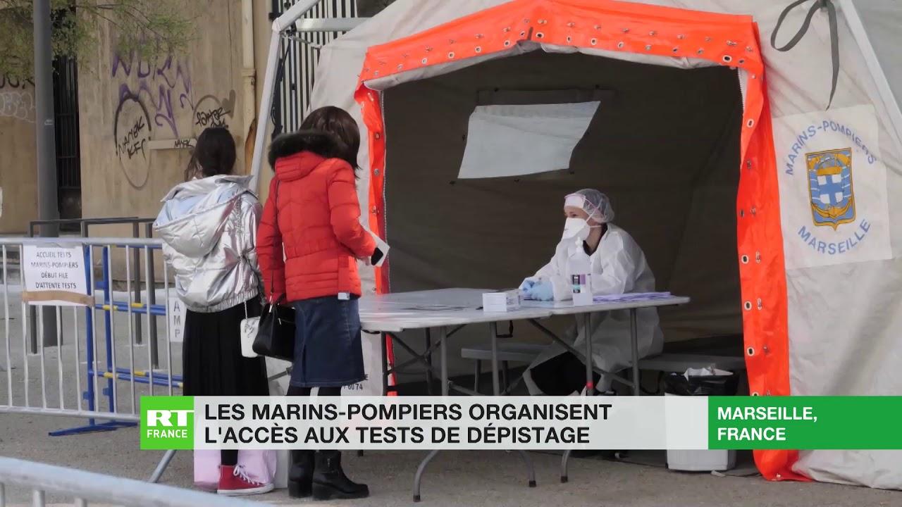 Covid-19 : à Marseille, les marins pompiers organisent l'accès aux tests de dépistage