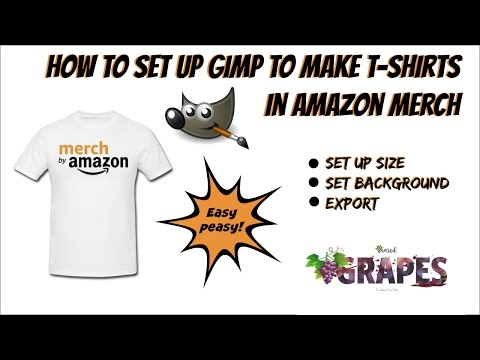 How To Set Up Gimp To Make T-Shirts In Amazon Merch