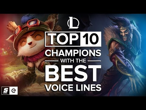 The Top 10 League of Legends Champions with the Best Voice Lines thumbnail